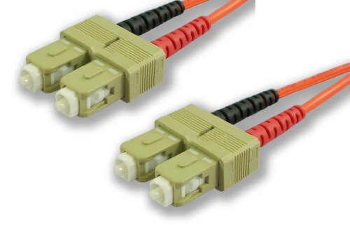 Lynn Electronics SCSCDUPMM-20M SC-SC 62.5/125 Duplex Multi-Mode Fiber Optic Patch Cable, 20-Meter, Orange