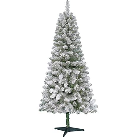 holiday time non lit 6 greenwood flocked pine christmas tree - Holiday Time Christmas Tree