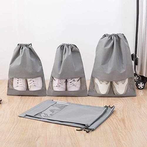 NNGT Schoentassen voor reizen reizen schoen tas 10 STKS Nietgeweven Trekkoord Schoenen Opbergzakken Reizen Schoen Tassen met Transparante Slot