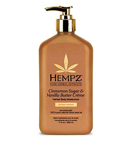 Antioxidant Vanilla Moisturizer - Hempz Limited Edition Cinnamon Sugar & Vanilla Butter Creme Herbal Body Moisturizer 17 oz