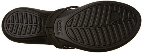 Crocs Isabella, Sandalias Flip-Flop Para Mujer Black/black