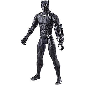 Avengers Marvel Endgame Titan Hero Series Black Panther 12″ Action Figure, Brown/A