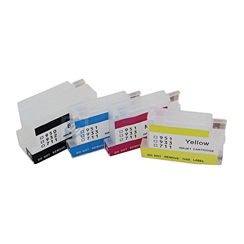 UniPrint 4pcs empty refillable Ink Cartridge for HP932 HP 932 XL 933 XL for HP Officejet Pro 6100 6600 6700 7110 7610 7612 Printer