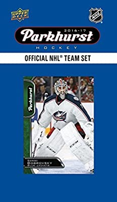 Columbus Blue Jackets 2016 2017 Upper Deck PARKHURST Series Factory Sealed Team Set including Brandon Saad, Brandon Dubinsky, Sergei Bobrovsky Plus