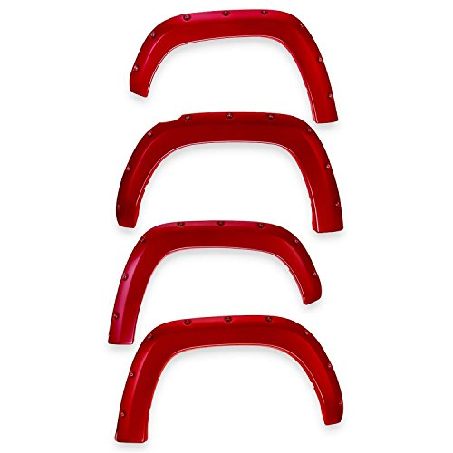 (EGR 793474-PQ Bolt-On Look Paint Match Fender Flare Set of 4 No-Drill Front And Rear Race Red Bolt-On Look Paint Match Fender Flare Set of)