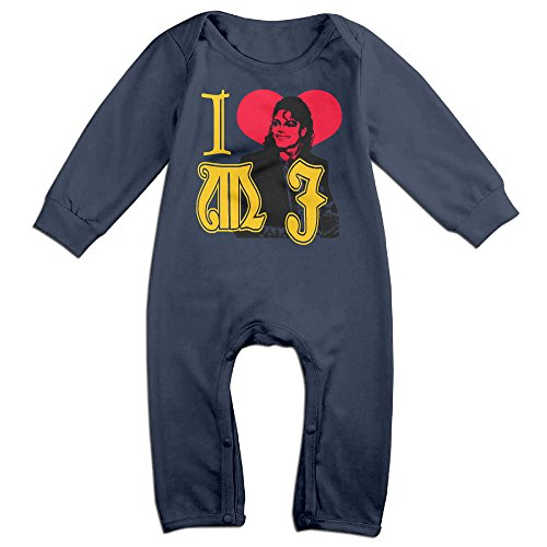MJML5 Baby I LOVE Michael Jackson Romper Playsuit Outfits 18 Months Navy (Michael Jackson Billie Jean Outfit)