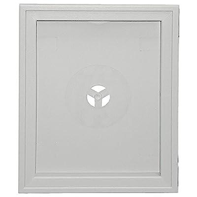 Builders Edge 130120008030 Large Recessed Mounting Block 030, Paintable
