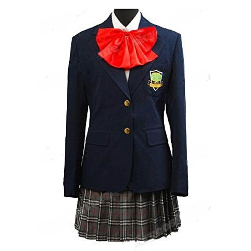 Kill Bill Cosplay Costume Gogo Yubari Dark Blue Uniform (Female M) (Kill Bill Costumes Halloween)