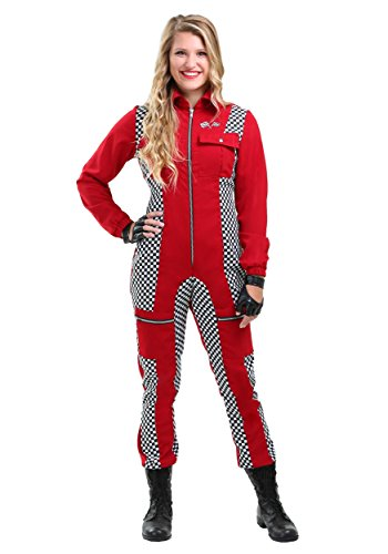 Racer Jumpsuit Womens Costume Medium Red]()