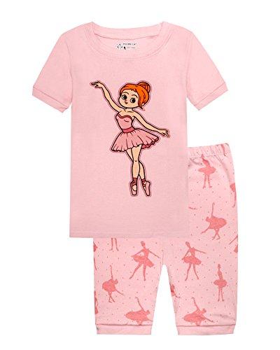 Ballet Girls Pajamas 100% Cotton Top & Pants Children Clothes Toddler Short Sleepwear 8T