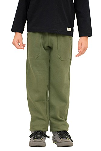 Pulla Bulla Little Boys' Sweatpants Fleece Pants Size 7 Army Green - Boys Knit Pants