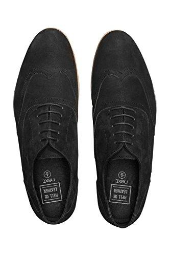 next Hombre Zapatos Puntera Alada Suela En Contraste Negro
