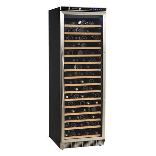 Stainless Wine Enthusiast 272 02 13W Stainless Steel//Wood Shelves Silent 12-Bottle Wine Cooler