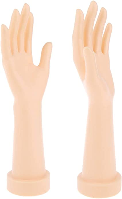 Flameer Female Mannequin Hand Arm Display Women Gloves Jewelry Model Right Left