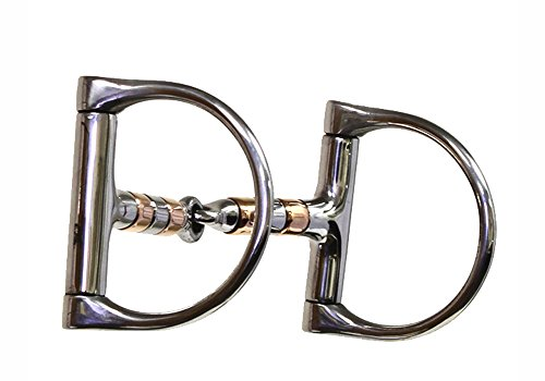 Colorado Saddlery The Copper Roller Mouth Dee Snaffle Bit, Stainless Steel