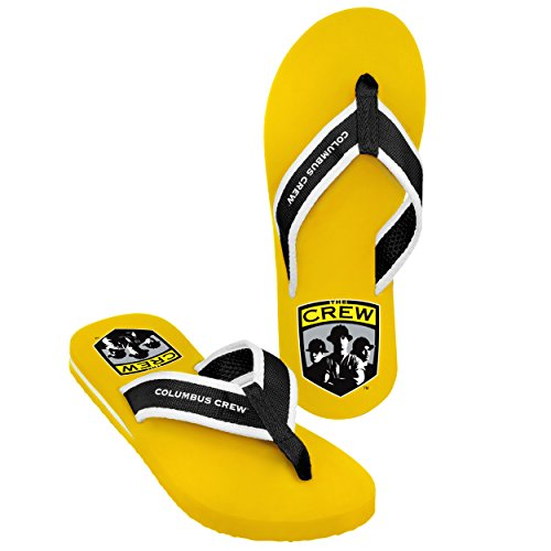 Forever Collectibles MLS Columbus Crew Men's 2013 Contour Flip Flop, X-Large, Black by Forever Collectibles