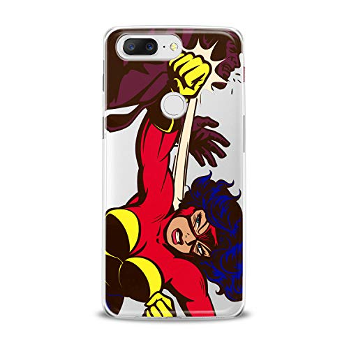 Lex Altern TPU Case for OnePlus 7 Pro 6T 6 2019 5T 5 2017 One+ 3 1+ Woman Power Superhero Bright Feminine Comics Art Cover Silicone Elegant Red Print Beautiful -