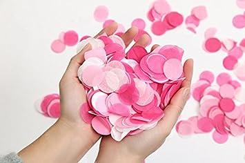 1 Zoll 1000 Stuck Papier Konfetti Runde Rosa Weiss Hochzeit