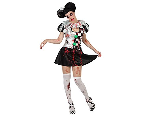 ATOSA 22699 - Bloody Clown weibliches Kostüm, Größe XS-S, schwarz weiß B00KQQEDJW Kostüme für Erwachsene Ausgezeichneter Wert | Outlet Online