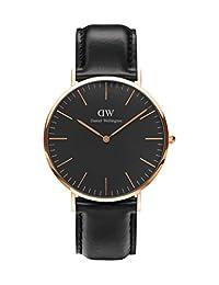 Daniel Wellington Men's Classic Sheffield DW00100127 Rose Gold Leather Quartz Watch