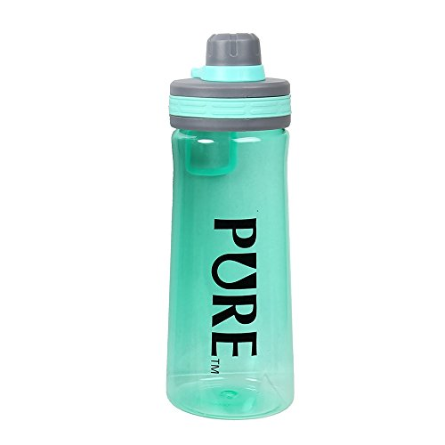 CTG, PURE Collection, Tritan Sports Water Bottle with Lid and Handle, Turquoise