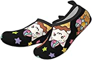 classic-glory Kittens in Ice Cream Children's Boys Girls Water Shoes Non-Slip Quick-Drying Swimming Barefo