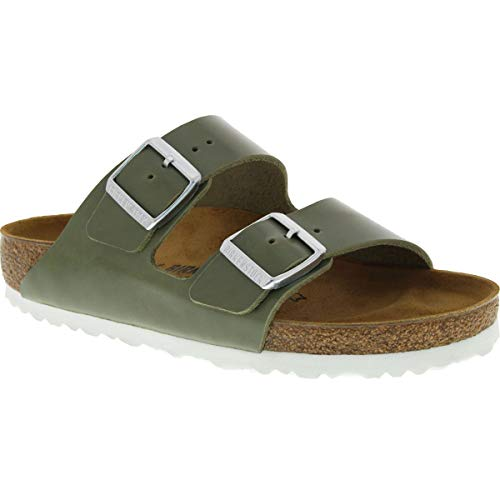 Birkenstock Women's Arizona Sandal Khaki Leather Size 40 N EU