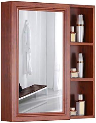 Sciever JP- 現代のシンプルな壁に取り付けられたミラーキャビネット、多機能シングルドアミラー付きアルミニウム収納キャビネット-ホームバスルームリビングルームキッチンに適しています