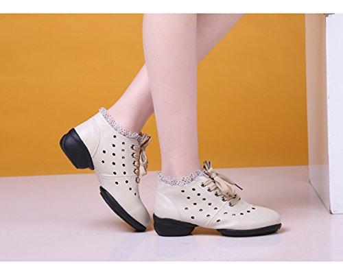 Jazz 323 Closed Sole Modern Toe Beige Abby Low Womens Dance Split Shoes Breathable Low Heel Top TwIqHHp
