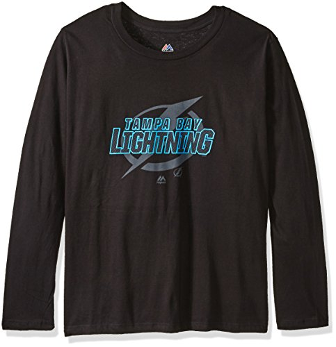 (NHL Tampa Bay Lightning Long Sleeve Tee with Double Arm Stripes, 2X Tall, Royal )