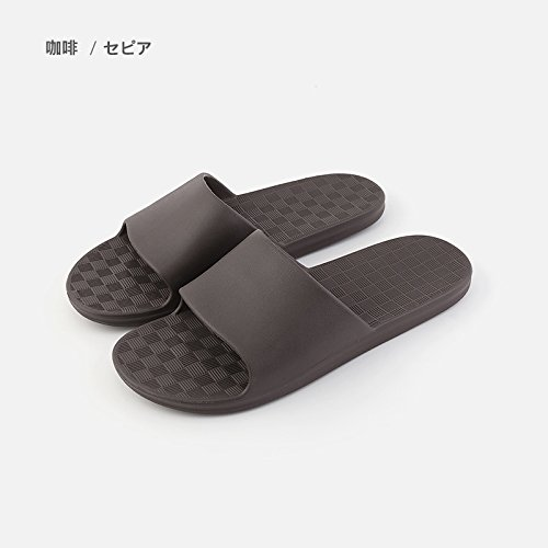 bathroom slippers 44 living bath of room brown B XL 43 anti slippers cool summer stay female Men your couple slip home fankou v4cWOO