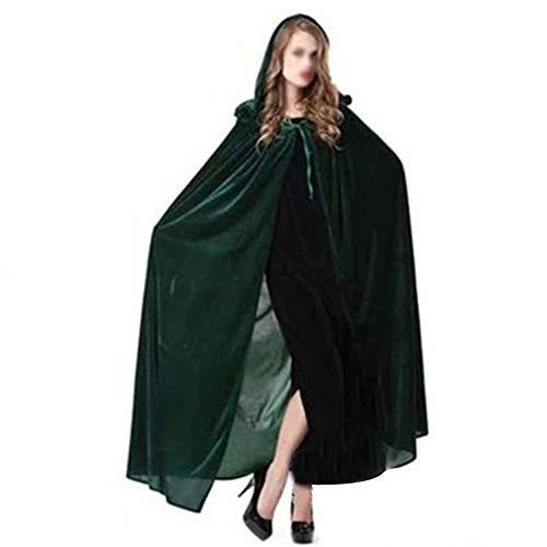 Costume Masquerade - Halloween Witch Cloak Wizard Hooded Robe Cosplay Masquerade Costume - Costume Incredible Halloween Masquerade Costumes Party Decorations Shirt Witch Halloween Wizard Decor P -