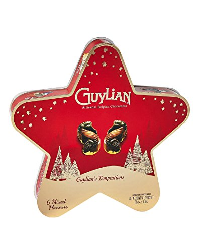 Guylian Seashells - Guylian Temptations Christmas Star Assorted Seashell Chocolate Truffles - 135g Artisanal Belgian Chocolates in Holiday Star Box Packaging