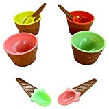 Dazzling Toys Perfect Party Plastic Ice Cream Dishes 12 Pack
