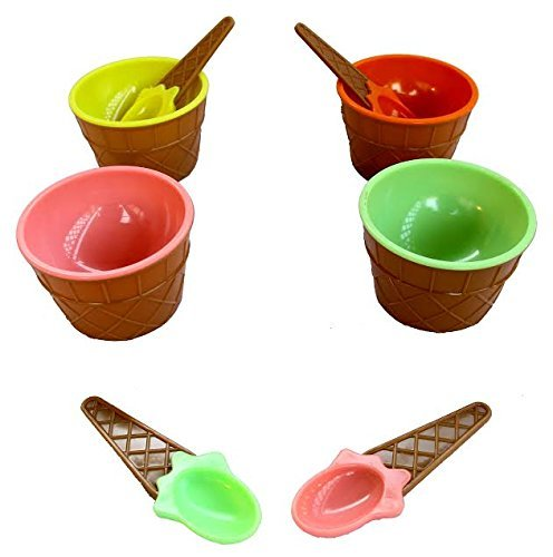 - Dazzling Toys Perfect Party Plastic Ice Cream Dishes 12 Pack