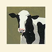 El Arte Grupo Julia Burns (Friesian Vaca)–Montado impresión