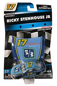 NASCAR Authentics Ricky Stenhouse Jr. #17 Diecast Car 1/64 Scale - 2018 Wave 3 with Free Hood - Collectible