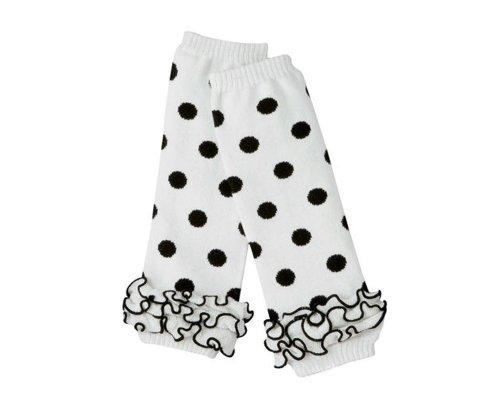 BONAMART Baby Girls Leg Warmers, Ruffle Socks Toddler Kids, Thigh High Outfits Polka Dot -