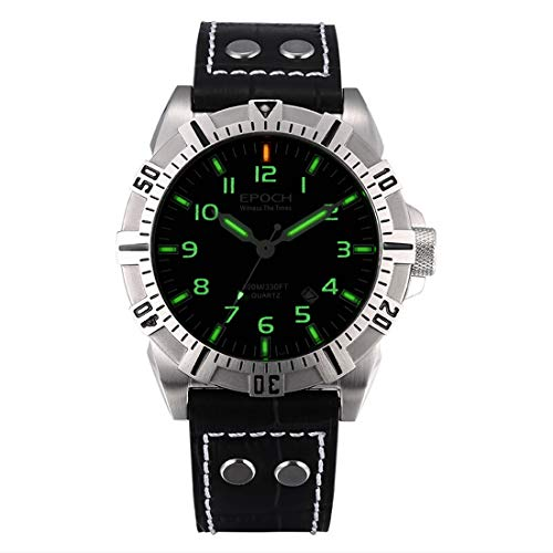 Mens 100M Water Resistant T25 Tritium Luminous Sport Military Quartz Wist Watch with Rotatable Bezel (P2) - EPOCH 6020G