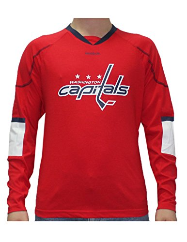fan products of NHL WASHINGTON CAPITALS Mens Game Day Hockey Training Shirt XL Red
