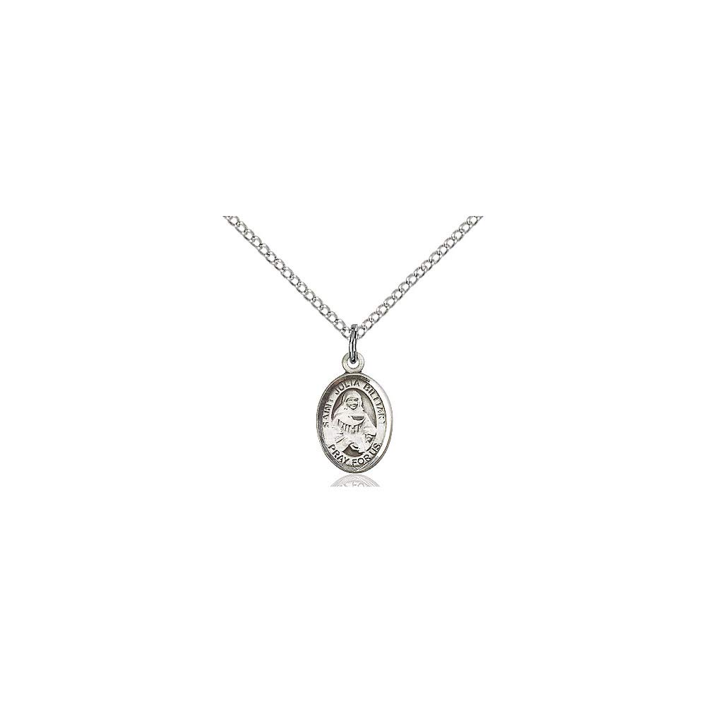 DiamondJewelryNY Sterling Silver St Julia Billiart Pendant