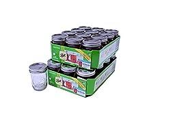 Ball Half Pint Jar, Regular Mouth, Set of 24