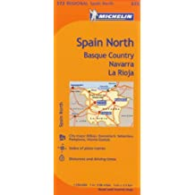 Michelin Spain: North, Basque Country, Navarra, La Rioja / Espagne: Nord, Pays basque, Navarre, La Rioja Map 573