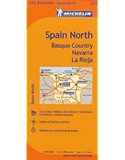 Michelin Spain: North, Basque Country, Navarra, La Rioja / Espagne: Nord, Pays basque, Navarre, La Rioja Map 573