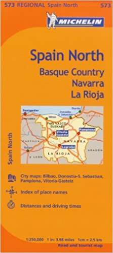Michelin Spain North Basque Country Navarra La Rioja Map 573