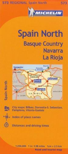 Michelin Spain: North, Basque Country, Navarra, La Rioja Map 573 (Maps/Regional (Michelin)) (Maps Of Spain)
