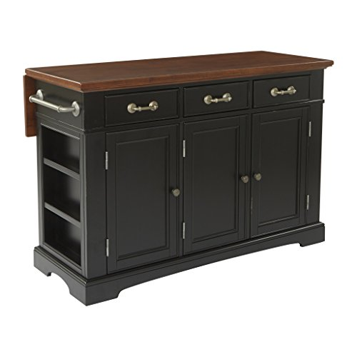 INSPIRED by Bassett Country Kitchen Island, Distressed Black