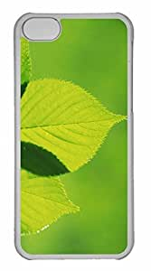 iPhone 5C Case, Personalized Custom Tree Leaves 3 for iPhone 5C PC Clear Case