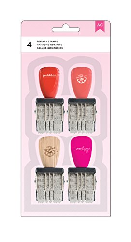 American Crafts 4 Piece Date Stamp Value Pack (American Crafts Date Stamp)