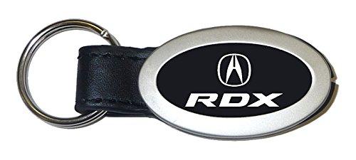 Acura RDX Black Oval Leather Key Chain Car Fob